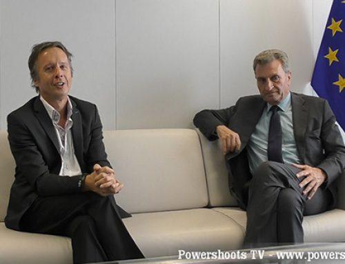 EU-Kommissar Günther Öttinger im Gespräch mit Powershoots TV – Positive Energy in Europe