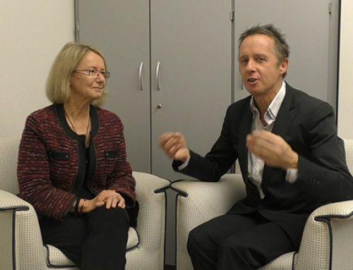 Evelyne Gebhardt (MdEP) im Gespräch mit Alexander Louvet