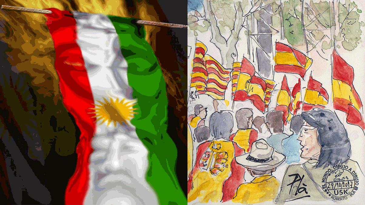Ein Blick von Katalonien nach Kurdistan