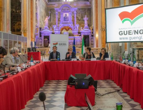 Die Linksfraktion (GUE/NGL) im Europaparlament beriet über ihre Zukunft
