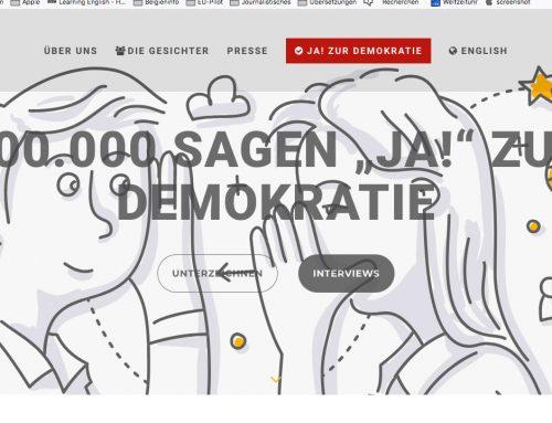 """Zwei Jahre """"Gesichter der Demokratie"""""""