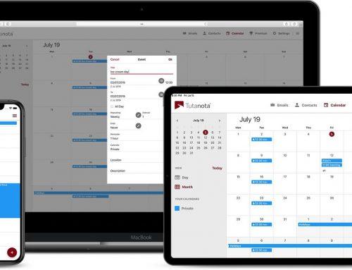 Maildienst Tutanota bietet nun auch verschlüsselten Kalender an