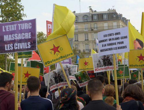 Demonstrationen gegen den völkerrechtswidrigen türkischen Angriff auf Rojava