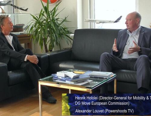 Henrik Hololei, Generaldirektor der DG Mobilität und Transport der EU-Kommission, im Gespräch mit POWERSHOOTS TV