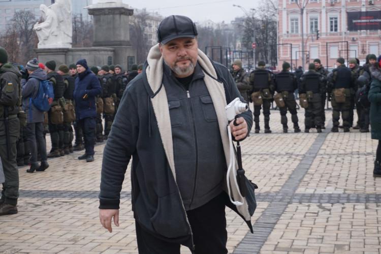 Antifa-Demo in Kiew, 19.01.2020: Ruslan Kozaba | Foto: © Bernhard Clasen